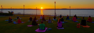 Park Yoga Sunset