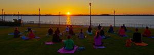 Park Yoga Sunset